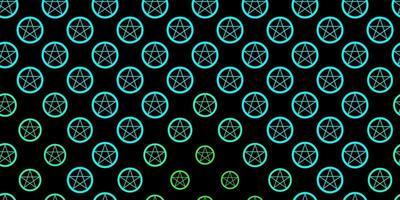 dunkelgrüne Vektorschablone mit esoterischen Zeichen. vektor