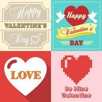 Valentinstag typografisch vektor