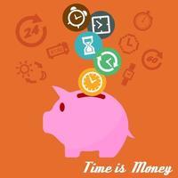 tid är pengar vektor