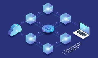 Blockchain- und Kryptowährungskonzept vektor