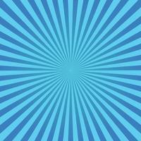 blauer Sunburst-Hintergrund vektor