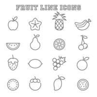 Fruchtliniensymbole vektor