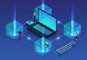 Blockchain- und Kryptowährungstechnologie vektor