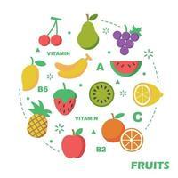 Frucht flaches Design vektor