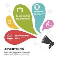 Werbung für Infografik-Vorlagen vektor