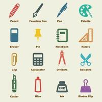 Briefpapier Vektorelemente