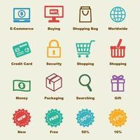 e-handel vektorelement
