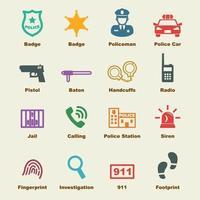 Polizei Vektor Elemente