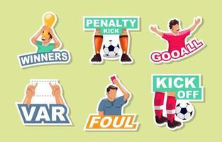 Fußballaufkleber Sammlung vektor