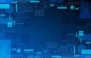 blauer Technologiehintergrund vektor