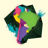 Südamerika Karte vektor