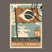 Brasilien Briefmarke vektor