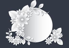 3D Weiß Floral Papercraft vektor