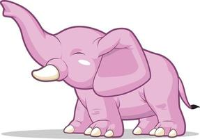 elefant hälsning höja bagageutrymme barn tecknad maskot illustration ritning vektor