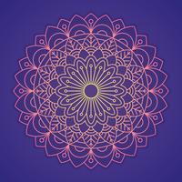 Ornamental Runde Spitze Muster vektor