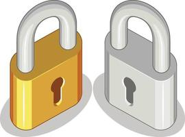 hänglås säkerhet integritet symbol tecknad vektorillustration ritning