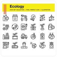 Ökologie-Ikonen eingestellt vektor