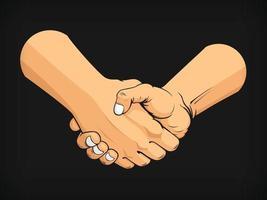 Handshake Geschäftsvereinbarung Deal Teamarbeit Cartoon Vektorzeichnung vektor