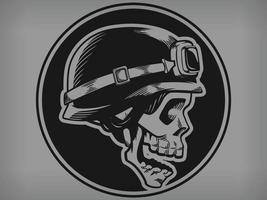 Silhouette Biker Schädel Skelett Motorrad Fahrer Club Schablone Zeichnung vektor