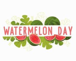 attraktive Illustration für Wassermelonentag vektor