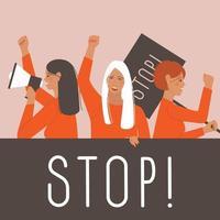 weibliche internationale Bewegung vektor