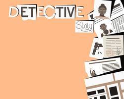 detektiv berättelse ram med plats för text vektor