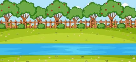 tom horisontell scen med floden i parken