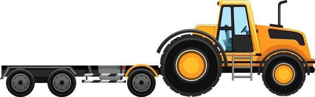 gelber Abschleppwagen lokalisiert auf weißem Hintergrund vektor