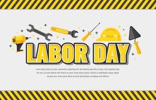 Arbeitstag Werkzeug mit gelb schwarzen Umriss vektor