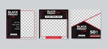 svart fredag försäljning sociala medier inlägg