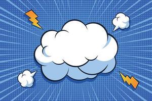 Pop Explosion Comic Hintergrund vektor