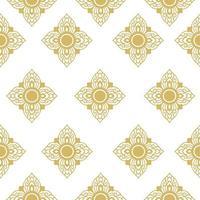 traditionelles nahtloses Muster des thailändischen Liniengewebes vektor
