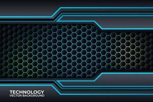 svart och blå bakgrundsdesign, teknik företagsmall. vektor
