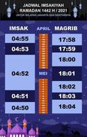Kalender imsakiyah mit neuem Konzept vektor