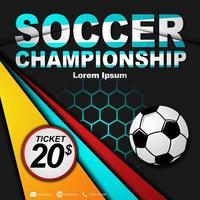 sociala medier postmall för fotbollsmästerskap. fotbollsmästerskap affisch.