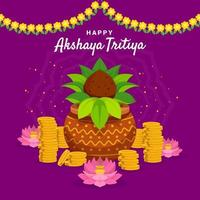 glad akshaya tritiya design vektor