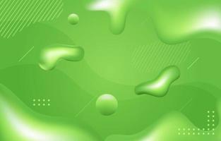 grüner organischer Flüssigkeitshintergrund vektor