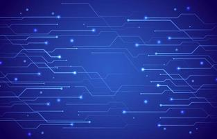 Technologie mit dunkelblauem Hintergrund vektor