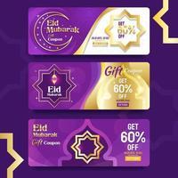 eid mubarak feier geschenkgutschein vektor