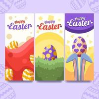 färgglada påsk festlighet banner vektor