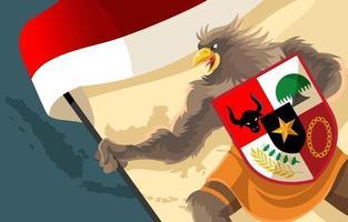 indonesia garuda anda för pancasila koncept