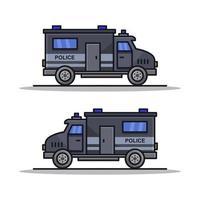 Polizeiwagen auf weißem Hintergrund vektor