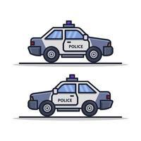Polizeiauto auf weißem Hintergrund vektor
