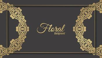 Luxus dunkles Blumenverzierungshintergrundkonzept vektor
