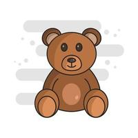 Teddybär auf weißem Hintergrund vektor