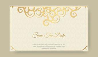elegant dekorativ bröllopskortsmall vektor