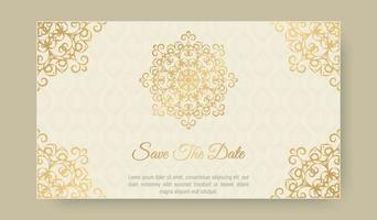 elegante dekorative Hochzeitskartenschablone vektor