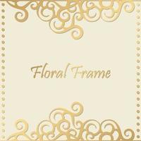 luxuriöser dekorativer Blumenrahmenhintergrund vektor