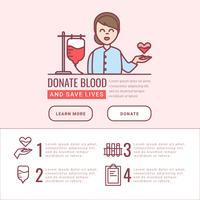 Vektor Blood Drive Infographik