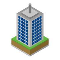 isometrischer Wolkenkratzer auf weißem Hintergrund vektor